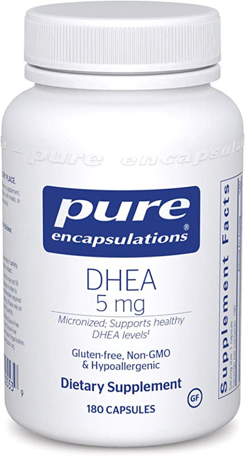 DHEA, dehydroepiandrosterone, is the most abundant adrenal steroid hormone in the body. After it is made by the adrenal glands, it travels into cells throughout the body where it is converted into androgens and estrogens. These hormones regulate fat and mineral metabolism, endocrine and reproductive function, and energy levels. The amount of each hormone that DHEA converts to depends on an individual's biochemistry, age, and sex. DHEA levels peak around age 25 and then decline steadily. DHEA supplementation has been associated with increased emotional well-being and immune function.