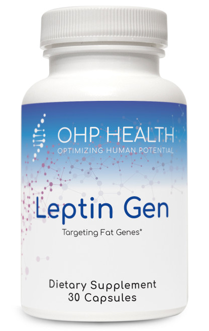 Much of obesity has a genetic influence. Genes encoding for the body's production of and response to the protein leptin play a major role in the regulation of body weight. Leptin functions as part of a signaling pathway that can inhibit food intake and regulate energy expenditure to reduce adipose tissue. This protein is also involved in the regulation of immune and inflammatory responses. Leptin Gen is formulated to influence genes that normalize leptin production and response to assist with fat loss and reduce inflammation.