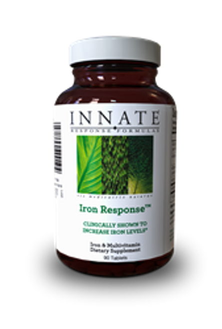 Clinically shown to increase iron levels* Iron Response™ was shown in an 8-week clinical trial to increase iron levels in patients with low iron without causing nausea or constipation* Delivers a gentle and effective 26 mg of FoodState® Iron per serving* Includes folic acid and B12, which help maintain healthy red blood cell production* Safe for menstruating women, teenage girls, pregnant women, vegans and vegetarians, athletes, and recent blood donors, all of whom are at increased risk of being low in iron* Combats fatigue and improves energy levels* Gentle enough to take on an empty stomach* Note: Patients should consult with their healthcare practitioners for advice regarding specific health conditions and recommended solutions