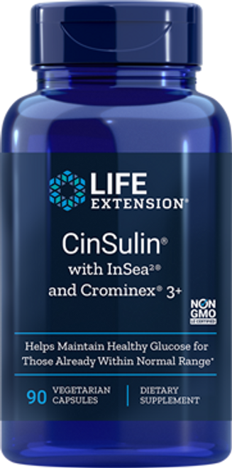 Our powerful blood sugar health support supplement includes a highly purified, water-soluble form of cinnamon known as CinSulin®, InSea2® seaweed extract and potent Crominex® 3+.
