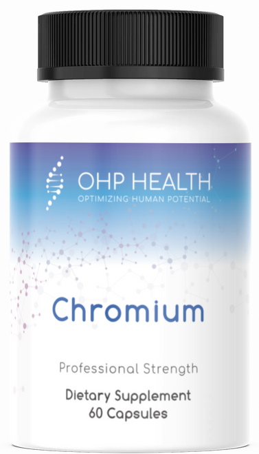 Chromium is a trace mineral essential to human health. Reacted Chromium includes 200 mcg per serving of chromium, ideally formulated using the superior chromium polynicotinate (niacin-bound) form for enhanced absorption and superior function. Chromium maintains healthy insulin balance, supports blood sugar balance already within normal levels, and supports appetite control.