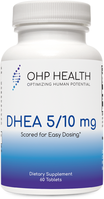 DHEA 5/10 mg features dehydroepiandrosterone (DHEA), a steroid hormone precursor that is adulthood and declines with age.*  Clinical Applications   Supports Healthy Androgen and Estrogen Levels*  Hormone Precursor to Androgens*  Supports Healthy DHEA Levels*