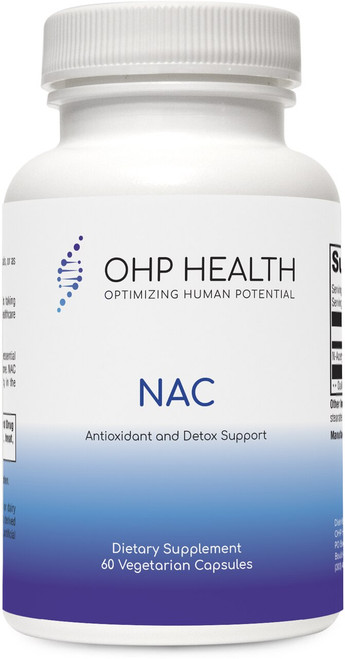 N-Acetyl-L-Cysteine (NAC) is a source of the conditionally essential amino acid L-cysteine and a precursor to the tripeptide glutathione. NAC and glutathione support antioxidant and detoxification activity in the body.*