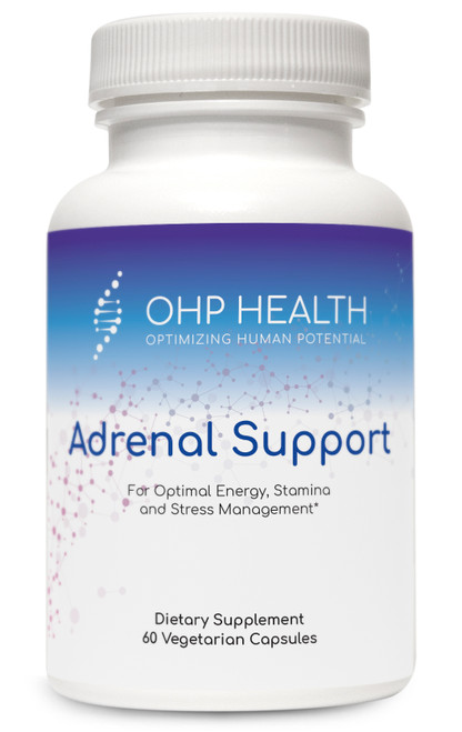 Adrenal Support features a comprehensive blend of nutrients and botanical extracts targeted to supporting the body's adaptogenic response to promote optimal energy production, stamina, and the management of everyday stressors. Adrenal glandular tissue, sourced from Argentinian bovine to safeguard purity, rounds out the ingredient profile.*