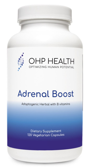 Adrenal Boost is a comprehensive blend of standardized extracts of the highest-quality adaptogenic  herbs plus three B vitamins. These ingredients aid in adrenal hormone production and support the body's  adaptogenic response. The formula is designed to support healthy energy levels, antioxidant activity, and  healthy immune function.*