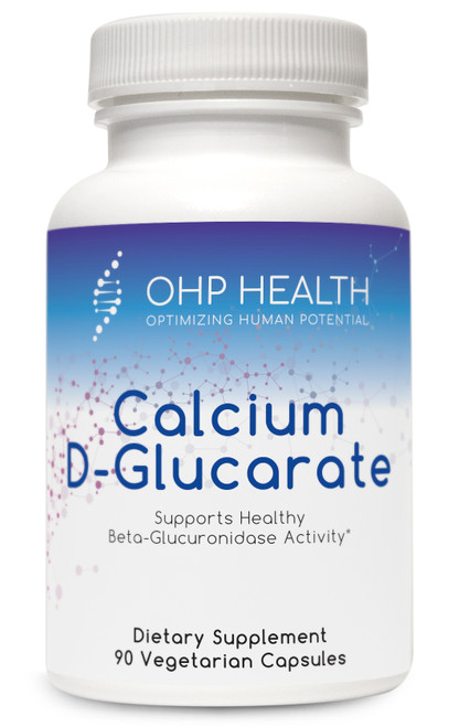 Calcium D-Glucarate is the supplemental, patented calcium salt form of D-glucaric acid—a substance produced naturally in the body and obtained through consumption of certain fruits and vegetables. Calcium D-glucarate has been extensively studied by researchers at the MD Anderson Cancer Center, and its health benefits are largely attributed to inhibition of beta-glucuronidase; this activity supports the body's ability to detoxify estrogens, xenobiotics, and fat soluble toxins.*