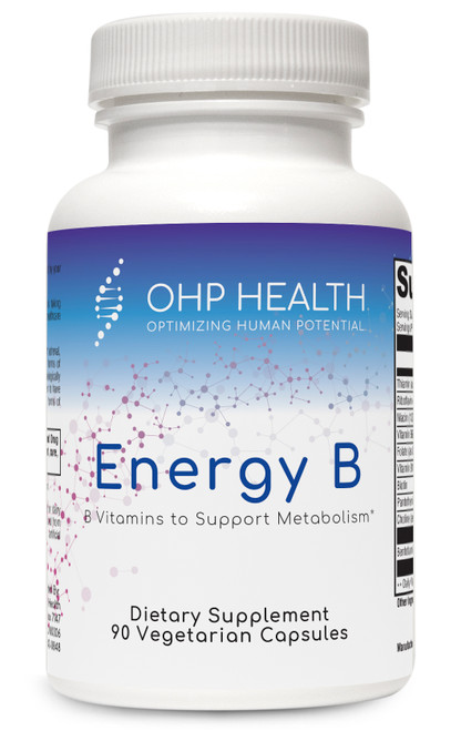 Energy B contains the entire spectrum of B vitamins to support adrenal and neurological functions. It features activated forms of vitamins B2, B6, and B12; benfotiamine, a fat soluble, more physiologically active form of thiamine; and folate as Quatrefolic®, which is proven to have greater stability, solubility, and bioavailability over calcium salt forms of 5-MTHF.