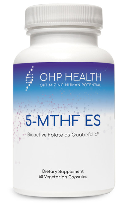 5-MTHF ES is the most biologically active form of the water-soluble B vitamin, folate. It is the preferred form of folate  supplementation due to an array of conditions that can limit conversion or absorption of folic acid. Data indicate that  supplementing with 5-MTHF increases plasma folate more effectively than folic acid. MecobalActive™, which is found  in the 5-MTHF ES plus B12 formula, is a highly pure form of methylcobalamin that does not use any harmful solvents  during manufacture.*