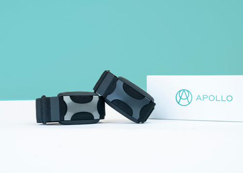"""Feeling stressed? Apollo Neuro is here for you. Apollo is a new wearable device that actually improves your body's resilience to stress. Apollo engages with your sense of touch, training your nervous system to bounce back more quickly from stress so you can clear your head and relax. Choose a mode in the app, like Sleep or Focus, and feel gentle vibrations that help your body shift from """"fight or flight"""" to """"rest and digest."""" The best part? Apollo works fast, with no side effects, and actually trains your body to recover more quickly over time."""