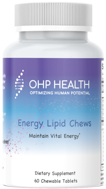 OHP Energy Lipid Chews are convenient and delicious chewable tablets! Patented phosphoglycolipids from soy, in proprietary and scientifically selected ratios of phosphatidylcholine, glycolipids, and other phosphatidyl nutrients, researched and blended to optimize cellular uptake and membrane utilization.*