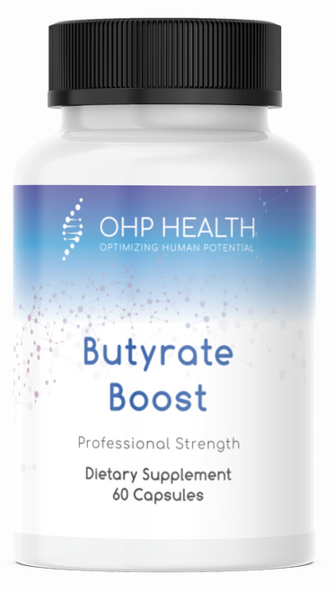 Butyrate Boost is a citrus-based prebiotic formula that provides flavonoid-rich polyphenols to promote a healthy gut microbiota composition while protecting the gut mucosal barrier and enhancing gut immunity. The non-fiber formula feeds the gut bacteria which subsequently nurtures gut epithelial cells while producing little fermentation, providing a safe option for individuals with small intestinal bacteria overgrowth (SIBO).