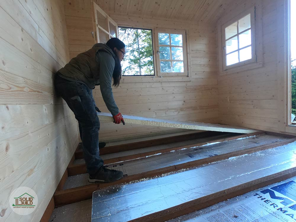 shed floor insulated with foamboard