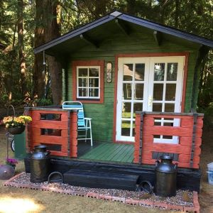 Outdoor wood garden she shed potting shed