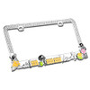 Dog Playground License Plate Frame with Sparkling White Crystals