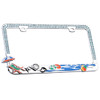 Sandy Beach License Plate Frame with Sparkling Blue Water Crystals