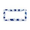 Aloha Blue Hibiscus License Plate Frame Clearance