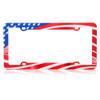 American Flag USA License Plate Frame Heavy Duty Plastic