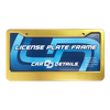 Car Details Anodized Aluminum License Plate Frame V2 Gold