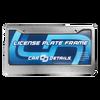 Car Details Anodized Aluminum License Plate Frame V2 Silver
