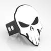 Skull Hitch Cover White On Black