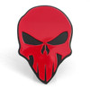 Skull Hitch Cover Red On Black