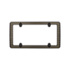 Billet License Plate Frame Black with Matte Gold