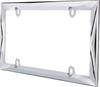 Contour License Plate Frame Die Cast Metal Chrome
