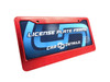 Car Details Anodized Aluminum License Plate Frame V2 Red