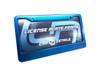 Car Details Anodized Aluminum License Plate Frame V2 Blue