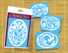 "Ohana Ovals ""D"" Island Style Initial Decal"