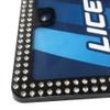 Car Details Clear Crystal Bling License Plate Frame Black