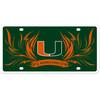 Miami Hurricanes Styrene License Plate