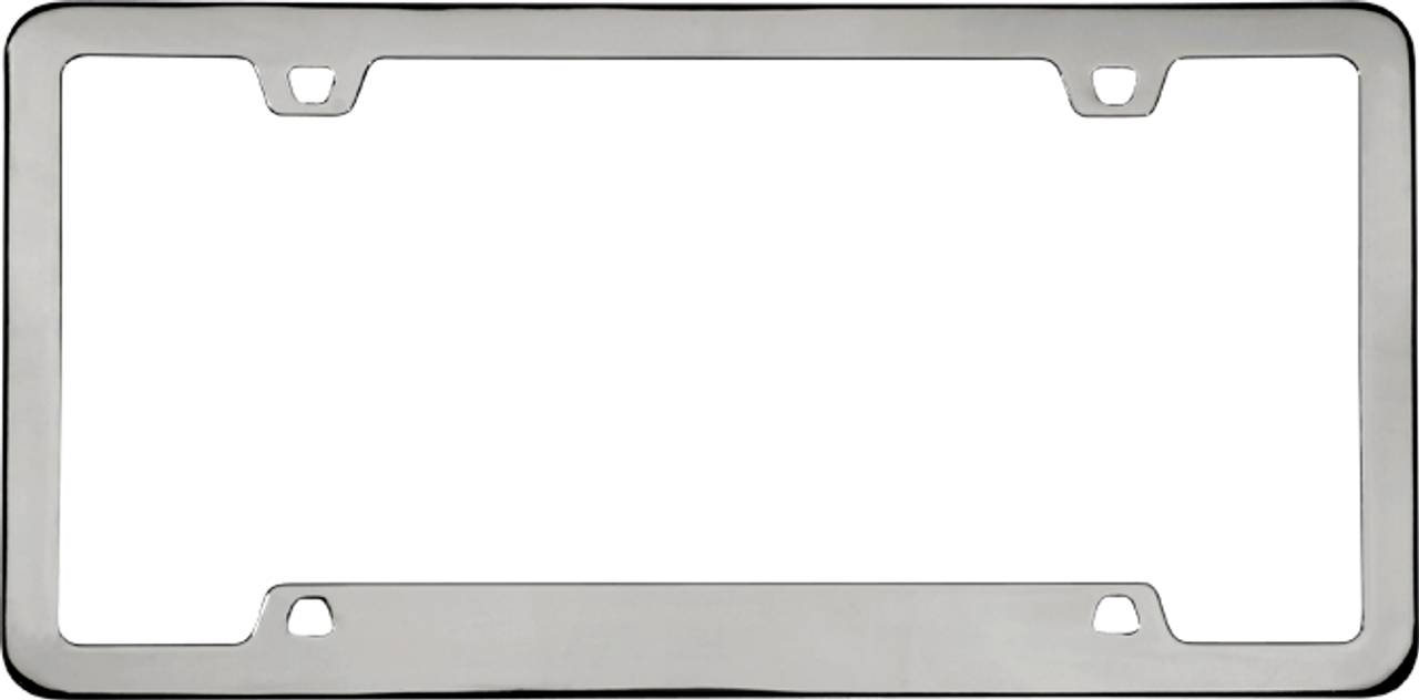 Neo Classic License Plate Frame Black Powder Coated