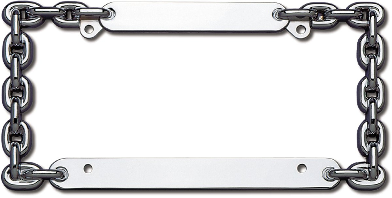 Heavy Duty Die Cast Zinc Chrome Tribal Flame License Plate Frame For US Plate