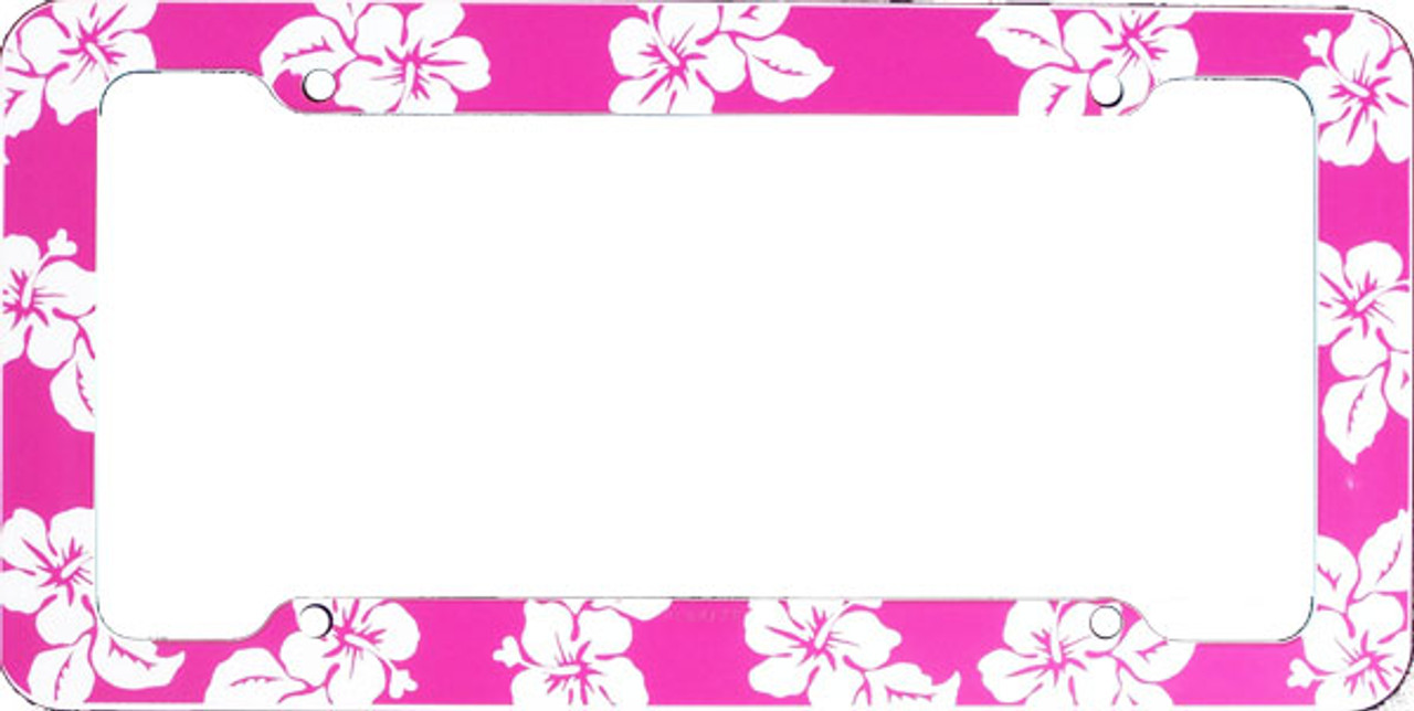 Aloha Pink Hibiscus License Plate Frame Cardetailscom