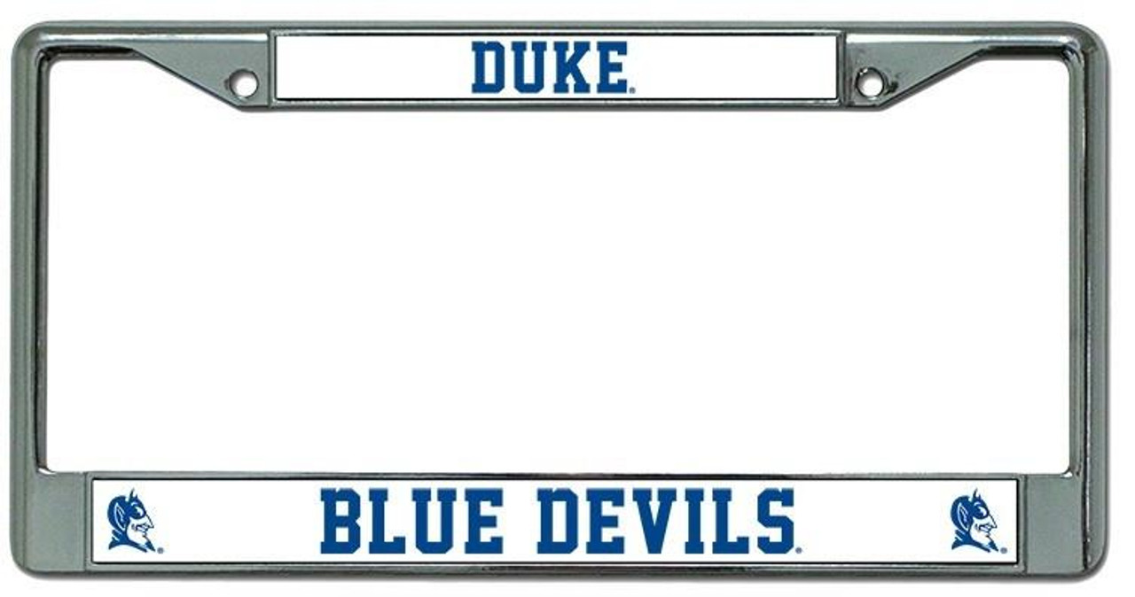 Duke Blue Devils License Plate Frame Chrome - CarDetails.com
