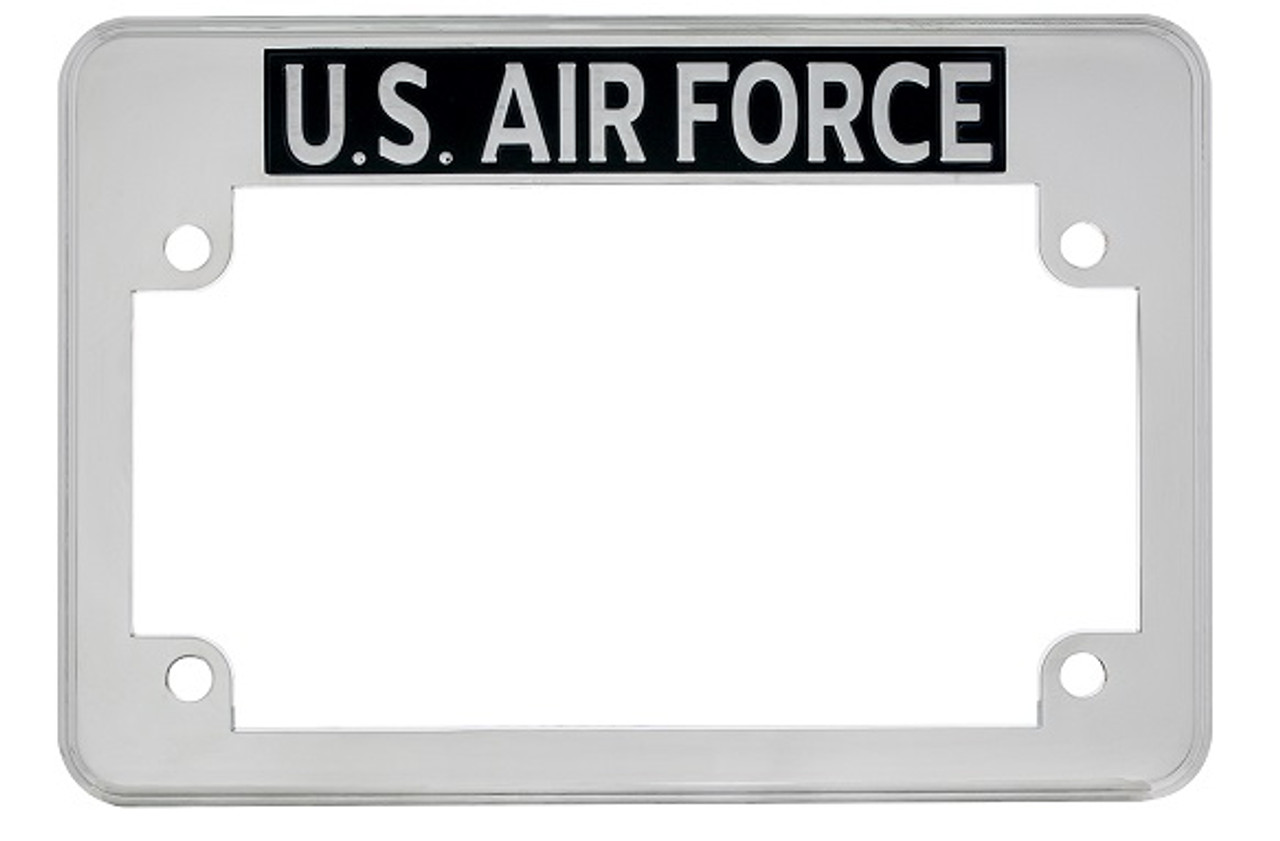 United States Us Air Force Chrome Motorcycle Military License Plate
