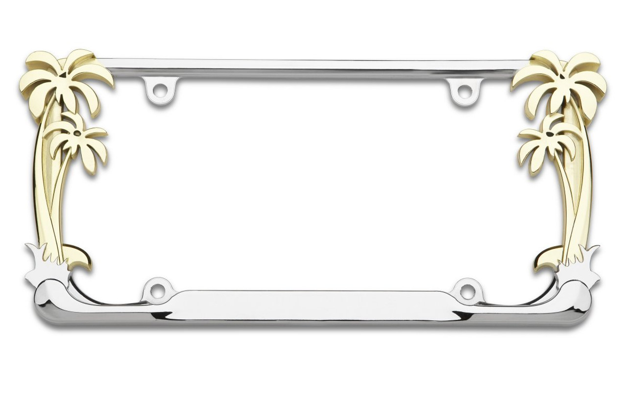 Chrome Metal License Plate Frame I Am A Pirate