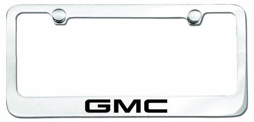 GMC Logo License Plate Frame Chrome - CarDetails.com