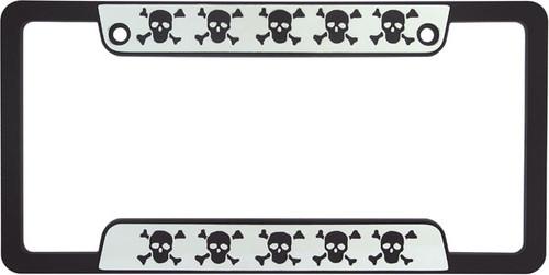 Skulls Chrome Plated License Plate Frame
