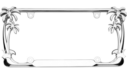 Palm Tree License Plate Frame Chrome Plating