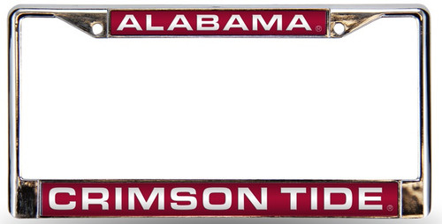 Alabama Crimson Tide License Plate Frame Laser Chrome