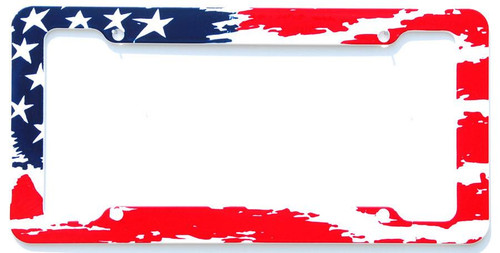 Aloha USA Waving Flag License Plate Frame