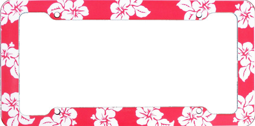 Aloha Red Hibiscus License Plate Frame