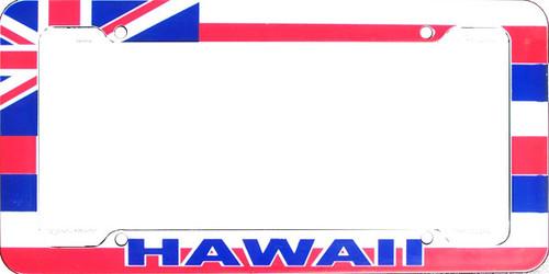 Aloha Hawaiian Flag License Plate Frame