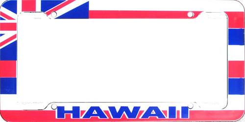 Aloha Hawaiian Flag License Plate Frame Clearance