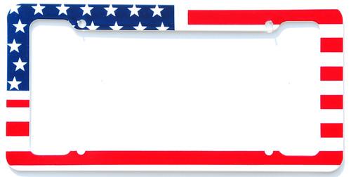 Aloha USA Flag License Plate Frame