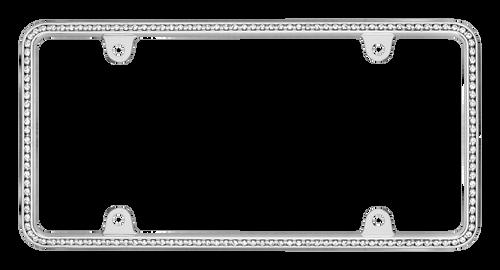 Diamondesque Chrome Plating License Plate Frame