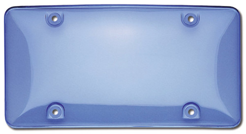 Tuf-Shield License Plate Cover Polycarbonate Bubble Shield Blue