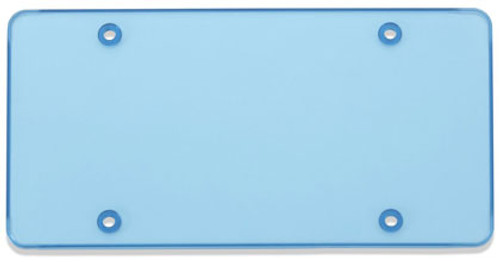 Tuf-Shield License Plate Cover Polycarbonate Flat Shield Blue